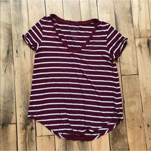 American Eagle soft & sexy t shirt red stripe